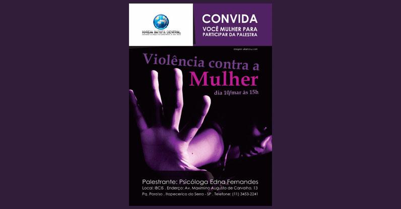 Cartaz A3 Violência Contra a Mulher