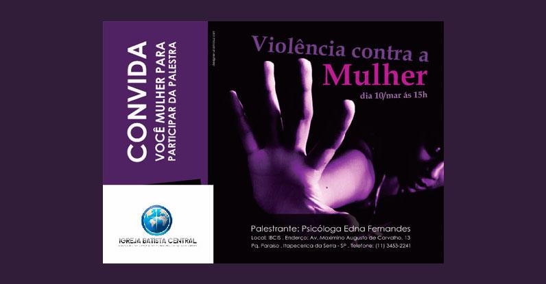 Convite A6 Violência Contra a Mulher